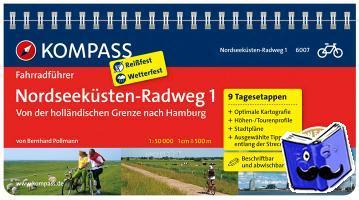 Pollmann, Bernhard - RF6007 Nordseeküsten-Radweg 1, von der holländischen Grenze nach Hamburg Kompass