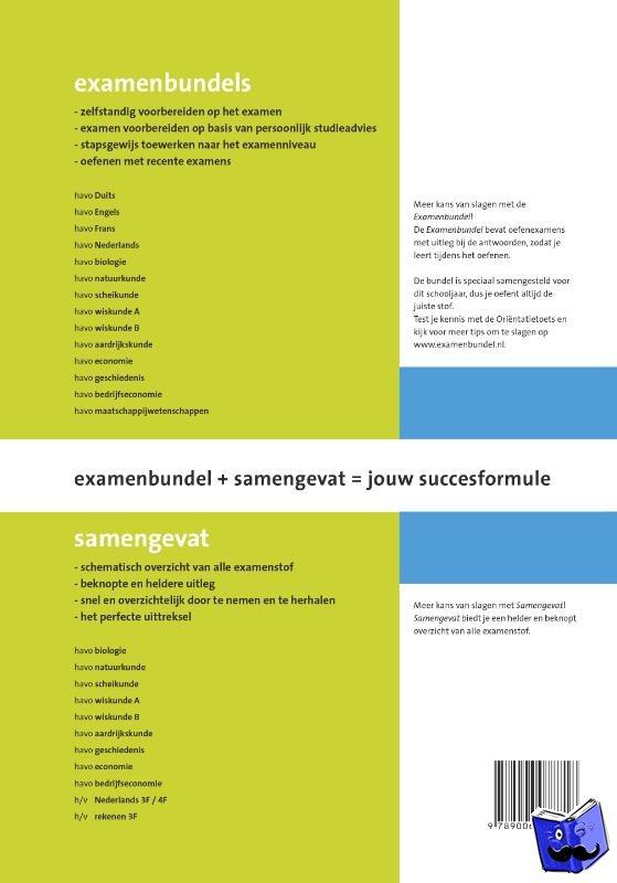 Vecht, J.R. van der - Samengevat Havo Scheikunde