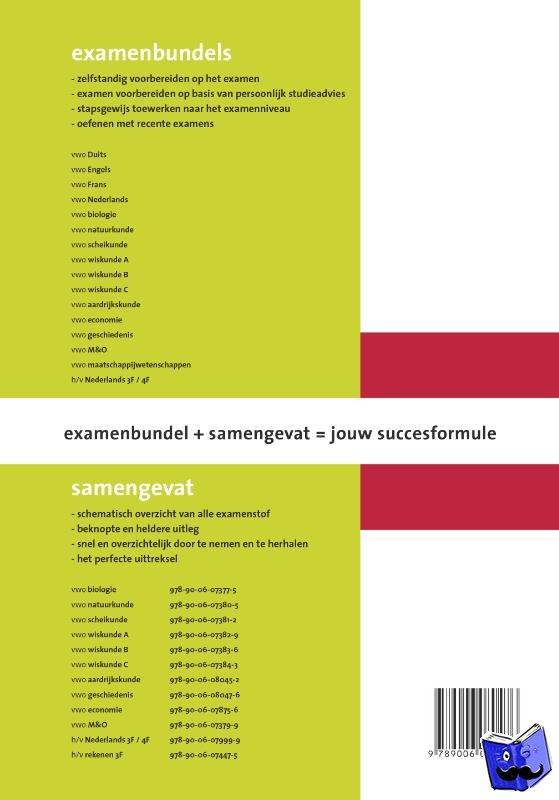 Bouw, Yvonne, Seriese, Ruud - Samengevat VWO Geschiedenis