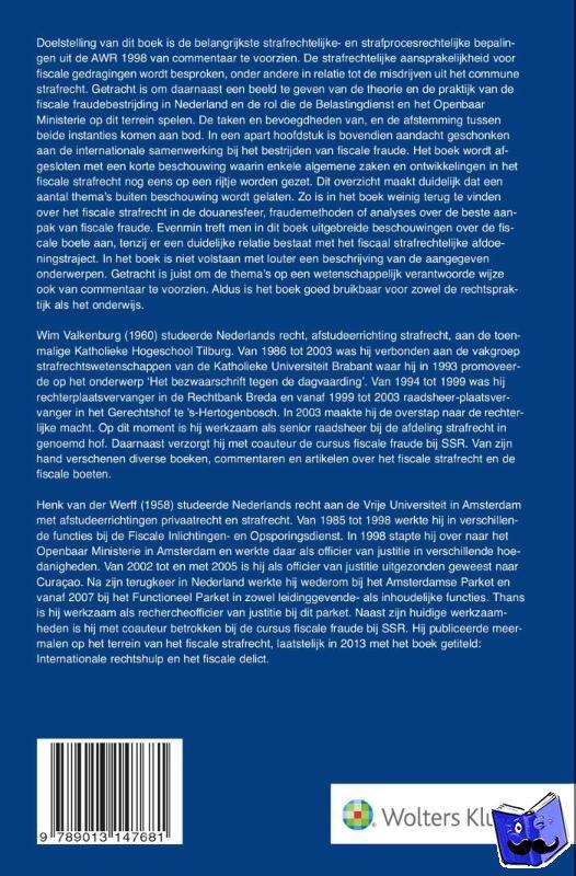Valkenburg, W.E.C.A., Werff, J.H. van der - Fiscaal straf- en strafprocesrecht