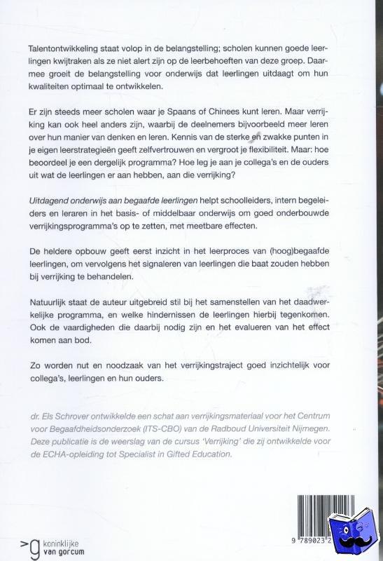 Schrover, Els - Uitdagend onderwijs aan begaafde leerlingen