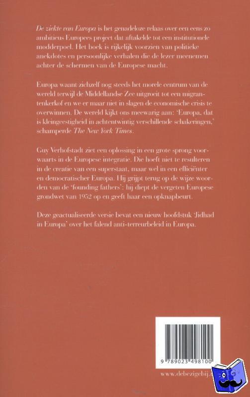 Verhofstadt, Guy - De ziekte van Europa