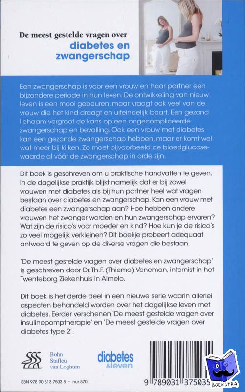 Veneman, Th.F. - De meest gestelde vragen over diabetes en zwangerschap - POD editie