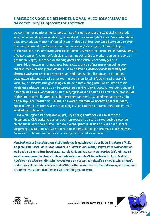 Meyers, Robert J., Smith, Jane Ellen - Handboek voor de behandeling van alcoholverslaving - POD editie