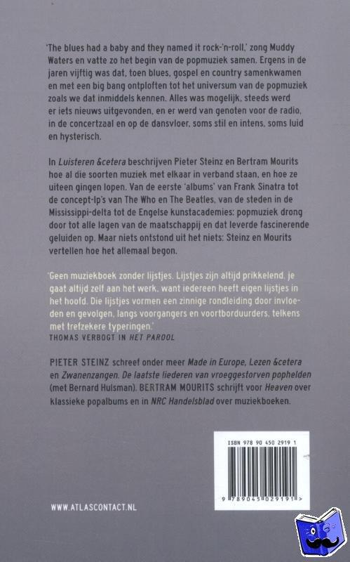 Steinz, Pieter, Mourits, Bertram - Luisteren &cetera - deel 3