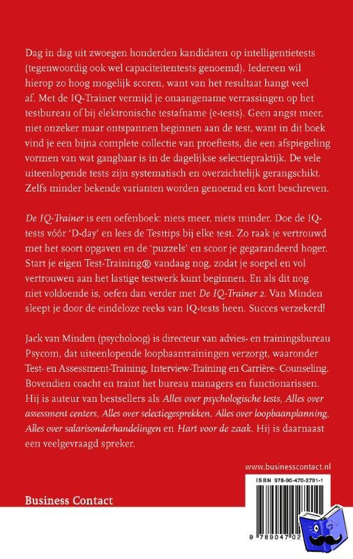 Minden, J.J.R. van - De IQ-Trainer