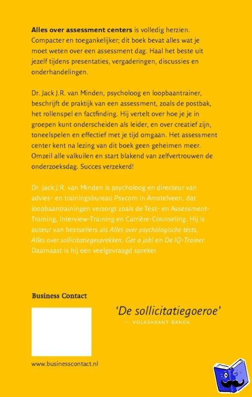 Minden, J.J.R. van - Alles over assessment centers - POD editie