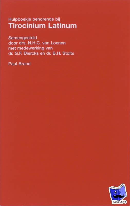 Loenen, N.H.C. van - Tirocinium latinum hulpboekje - POD editie