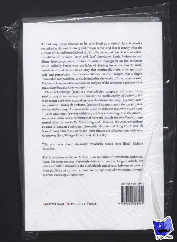 Andriessen, Louis, Schönberger, Elmer - Amsterdam Academic Archive The Apollonian Clockwork - POD editie