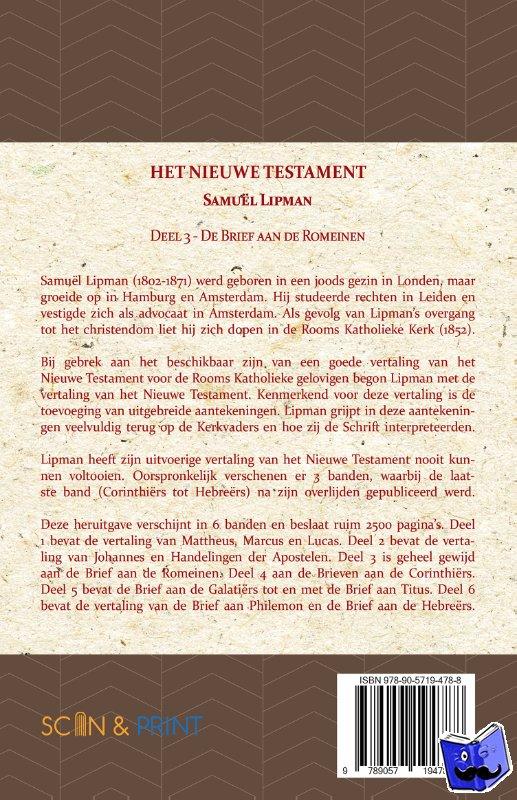 Lipman, Samuël - De Brief aan de Romeinen