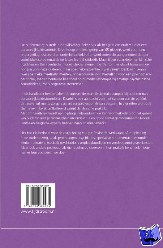 - Handboek persoonlijkheidsstoornissen bij ouderen