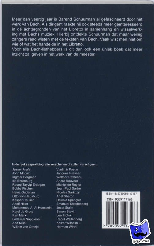 Schuurman, Barend - Aspekt Biografie J.S.Bach - Matth?us Passion