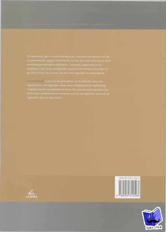 Pol-Top, H. van der - Skillslabserie voor logopedische vaardigheden Accentmethode Werkcahier