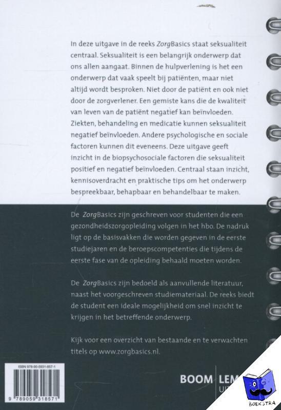 Pastoor, Hester, Jedeloo, Susan - ZorgBasics Zorgbasics seksualiteit - POD editie