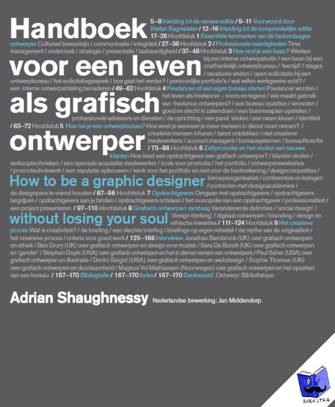 Shaughnessy, Adrian - handboek voor een leven als grafisch ontwerper