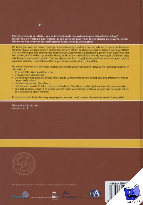 Marzano, Robert J., Waters, Timothy, McNulty, Brian A. - Wat werkt: Leiderschap op school