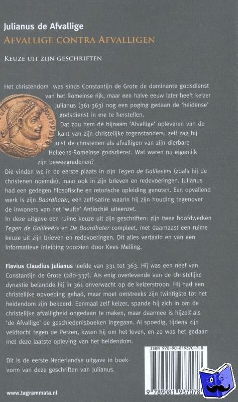 Afvallige, Julianus de - Julianus de Afvallige: Afvallige contra afvalligen