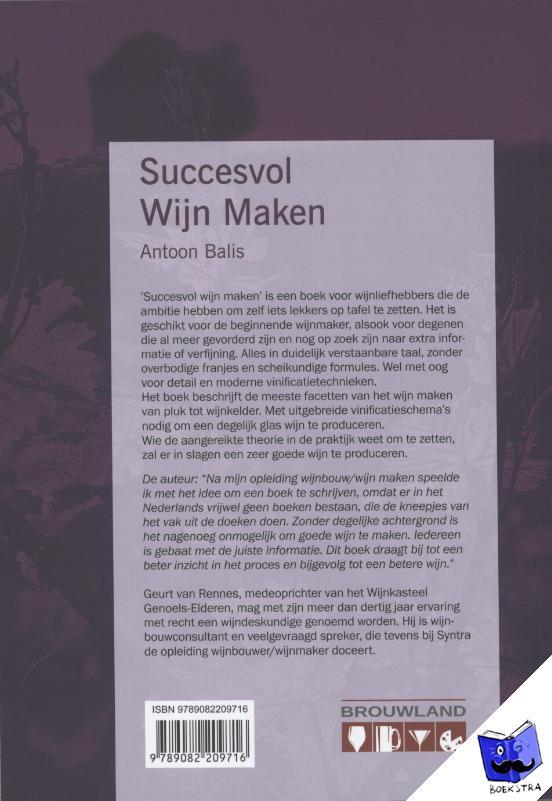 Balis, Antoon - Succesvol wijn maken