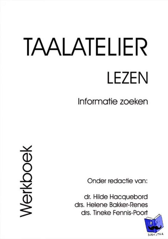 Stigter, I. - Taalatelier Informatie zoeken Werkboek