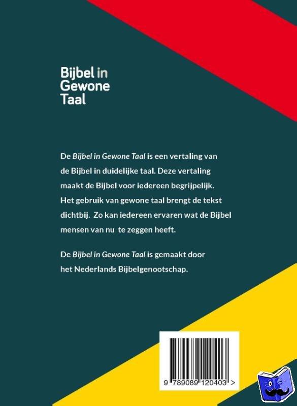 - Bijbel in Gewone Taal - huisbijbel 14x21cm