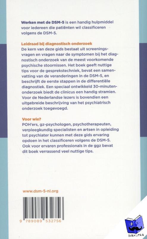 Nussbaum, Abraham M., American Psychiatric Association - Werken met de DSM-5 - Praktijkgids