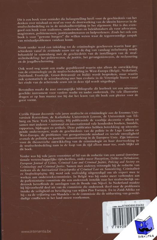 Fijnaut, Cyrille - Criminologie en strafrechtsbedeling