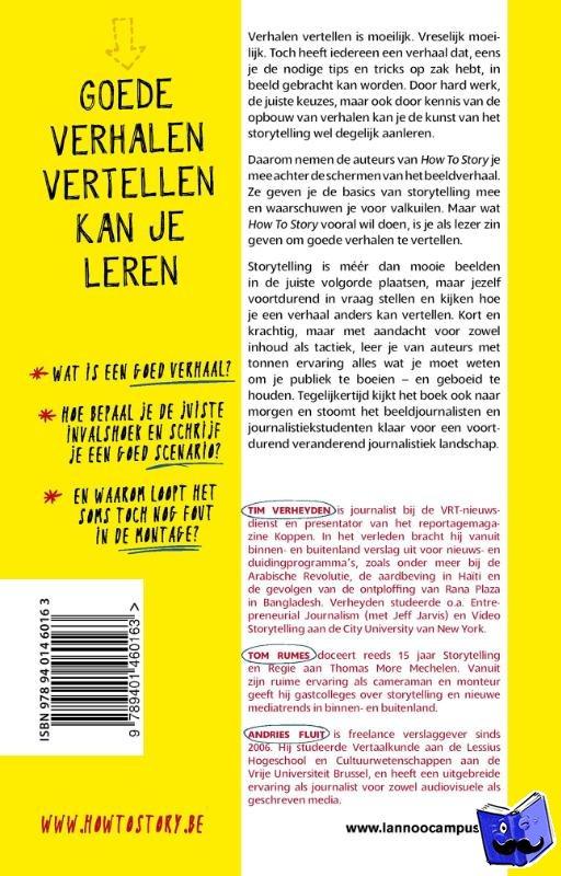 Verheyden, Tim, Rumes, Tom, Fluit, Andries - How to story - POD editie