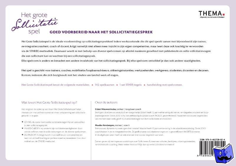 Nieuwenhuize, Eldert, Kersbergen, Maaike - Het grote sollicitatiespel
