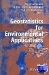 Philippe Renard, Helene (University of Neuchatel) Demougeot-Renard, Roland Froidevaux - Geostatistics for Environmental Applications