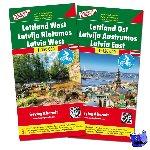 - F&B Letland West en Oost 2-kaartenset