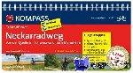 Pollmann, Bernhard - RF6282 Neckarradweg, von der Quelle im Schwarzwald nach Mannheim Kompass