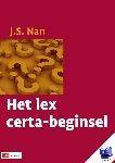 Nan, J.S. - Het lex certa-beginsel