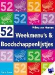 Hoeven, W. van - 52 weekmenu's en boodschappenlijstjes - POD editie