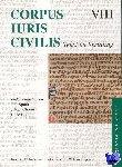 - Corpus Iuris Civilis VIII; Codex Justinianus 4 - 8 VIII Codex Justinianus iv-viii