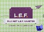 Arkel, Inez van, Frankena, Maaike - Blij met L.E.F. kaartspel